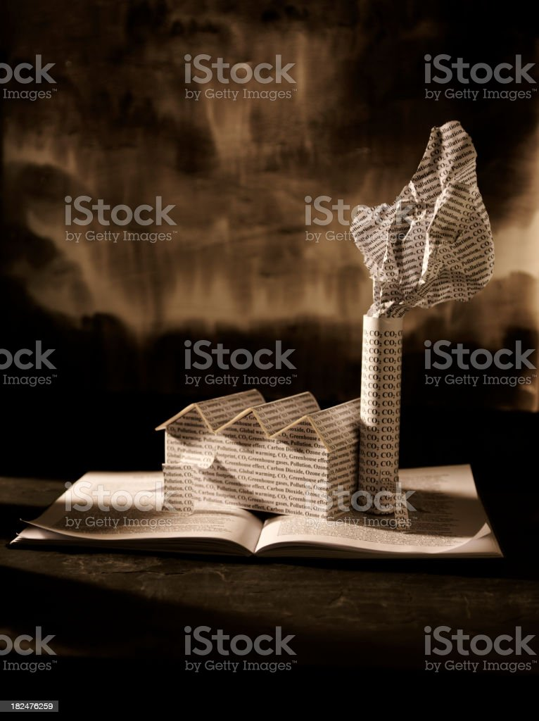 Paper Concept of Global Warming royalty-free stock photo