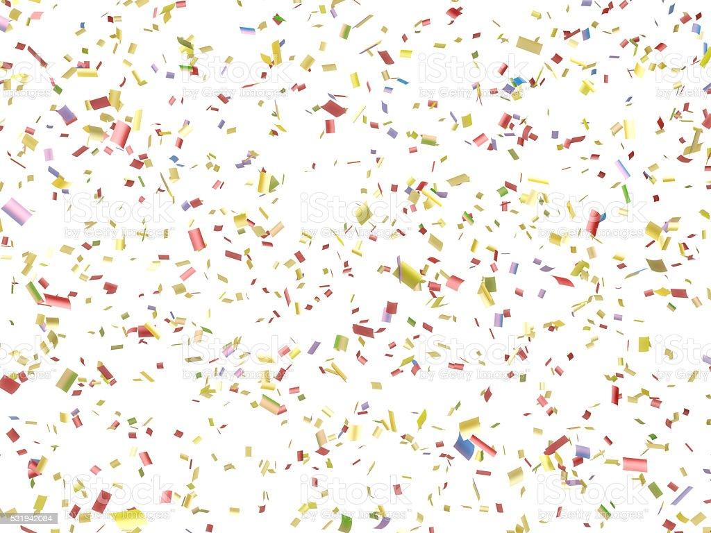 Paper Confetti Falling Isolated on White stock photo