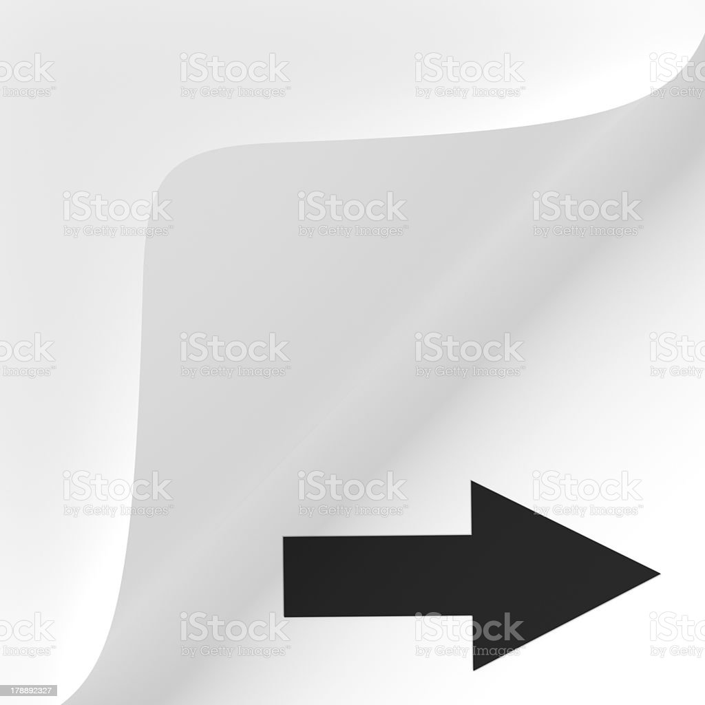 Paper corner peel - Next royalty-free stock photo
