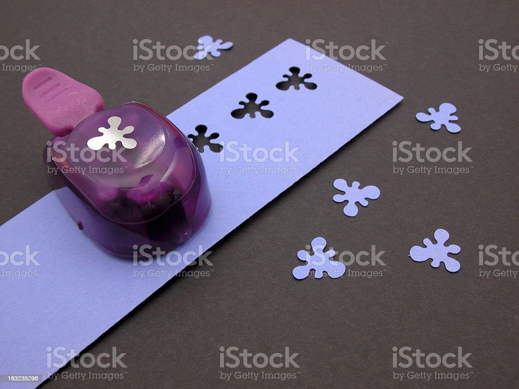 Paper Craft Punch Scrapbooking royalty-free stock photo