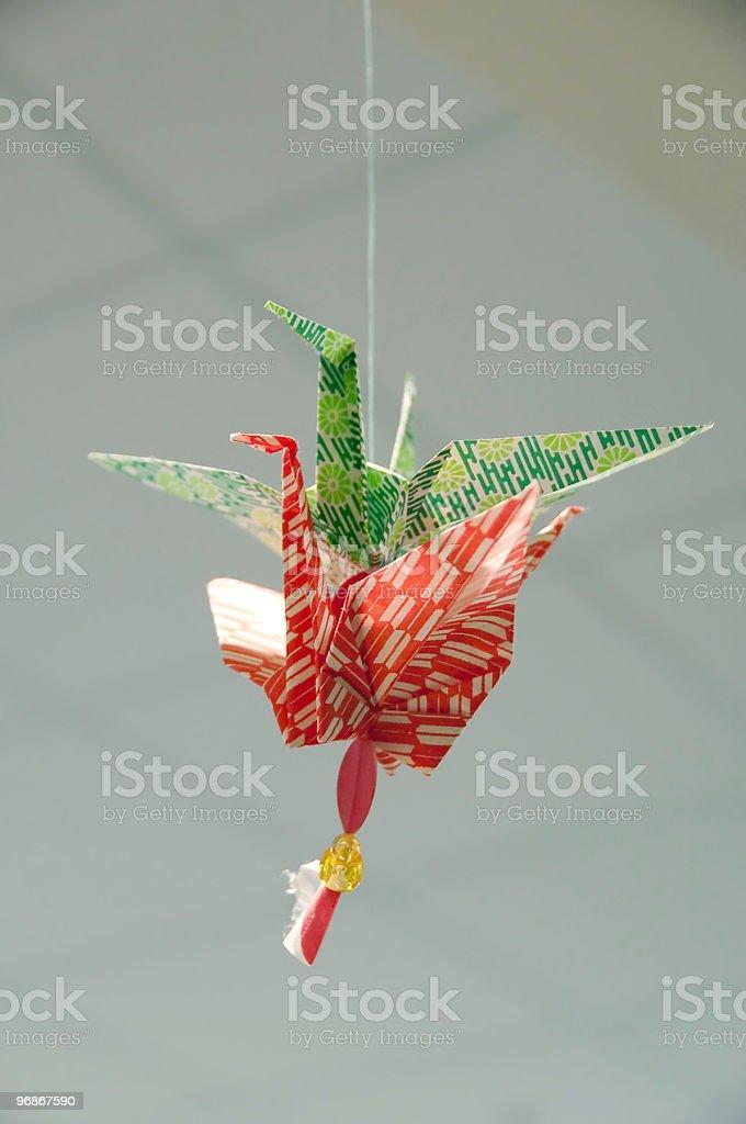 Papier cranes Lizenzfreies stock-foto