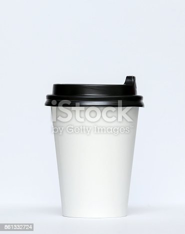 istock Paper cup for hot coffee 861332724