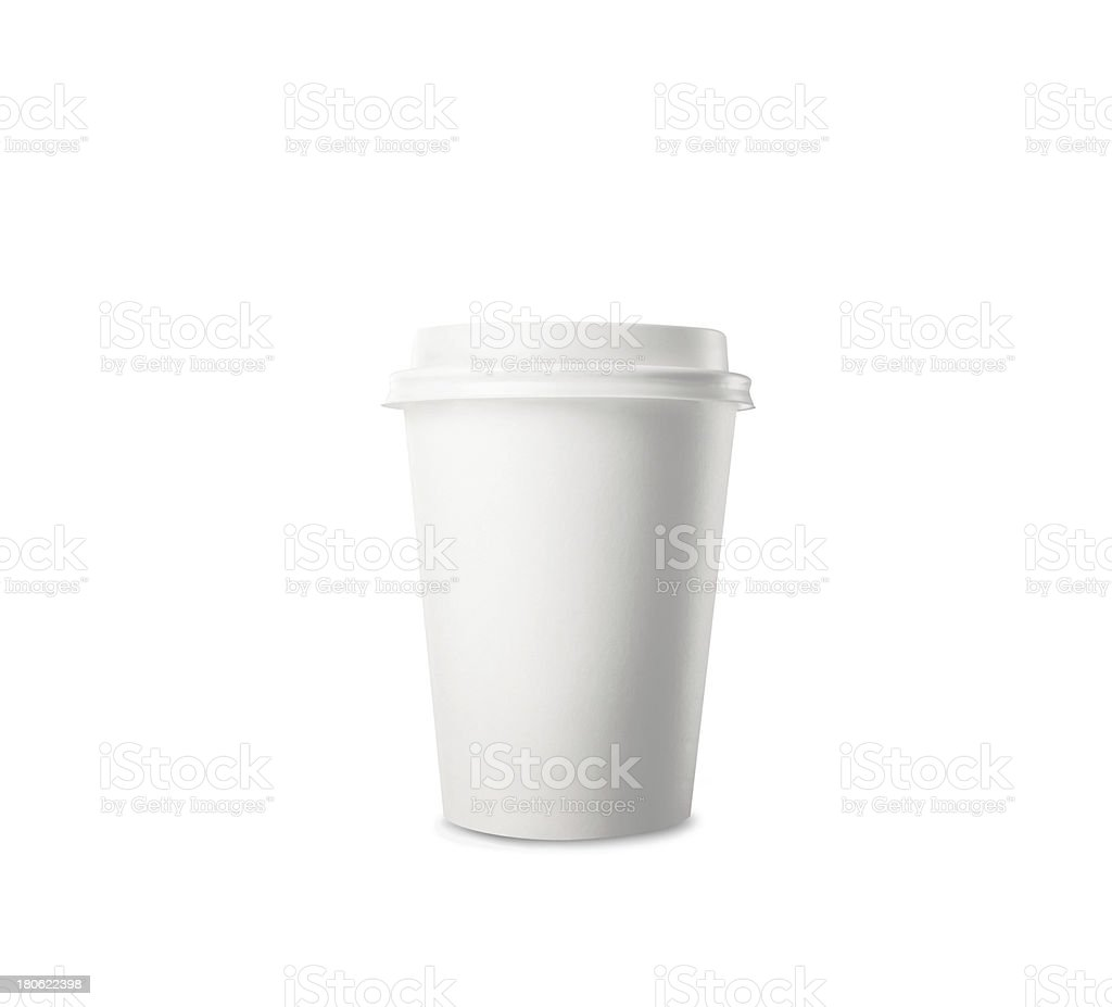 Paper cup of coffee stock photo