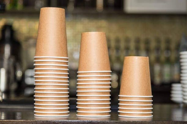 Paper cups for drinks Paper cups for drinks disposable cup stock pictures, royalty-free photos & images