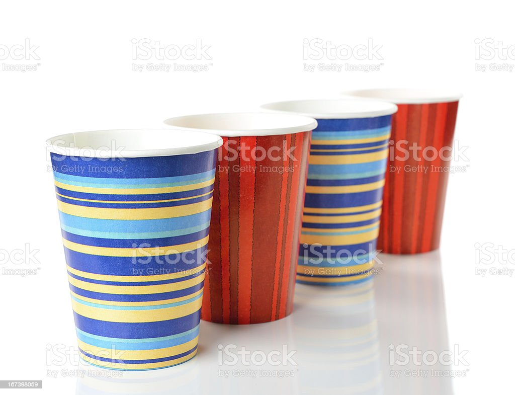 paper cups royalty-free stock photo