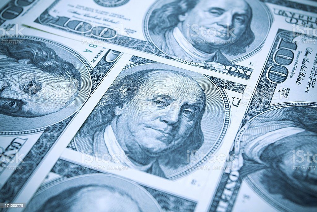 US Paper Currency background stock photo