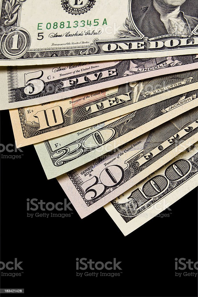 US Paper Currency royalty-free stock photo