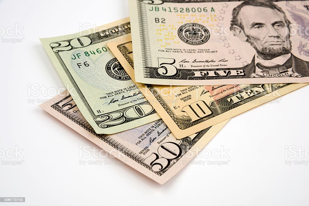 US Paper Currency stock photo