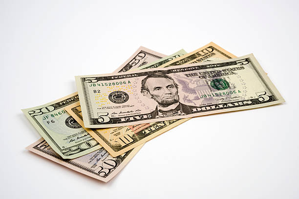 us paper currency - number 20 stock photos and pictures