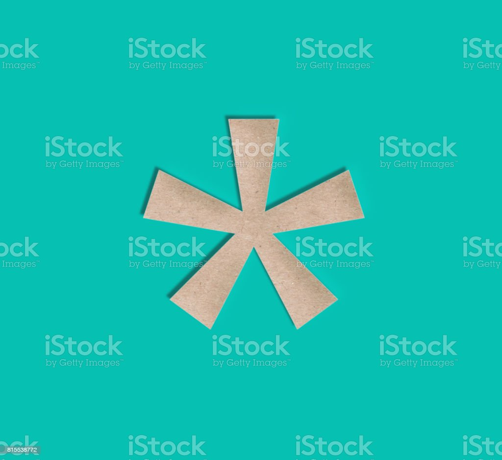 Paper Cut Asterisk Symbol - foto stock