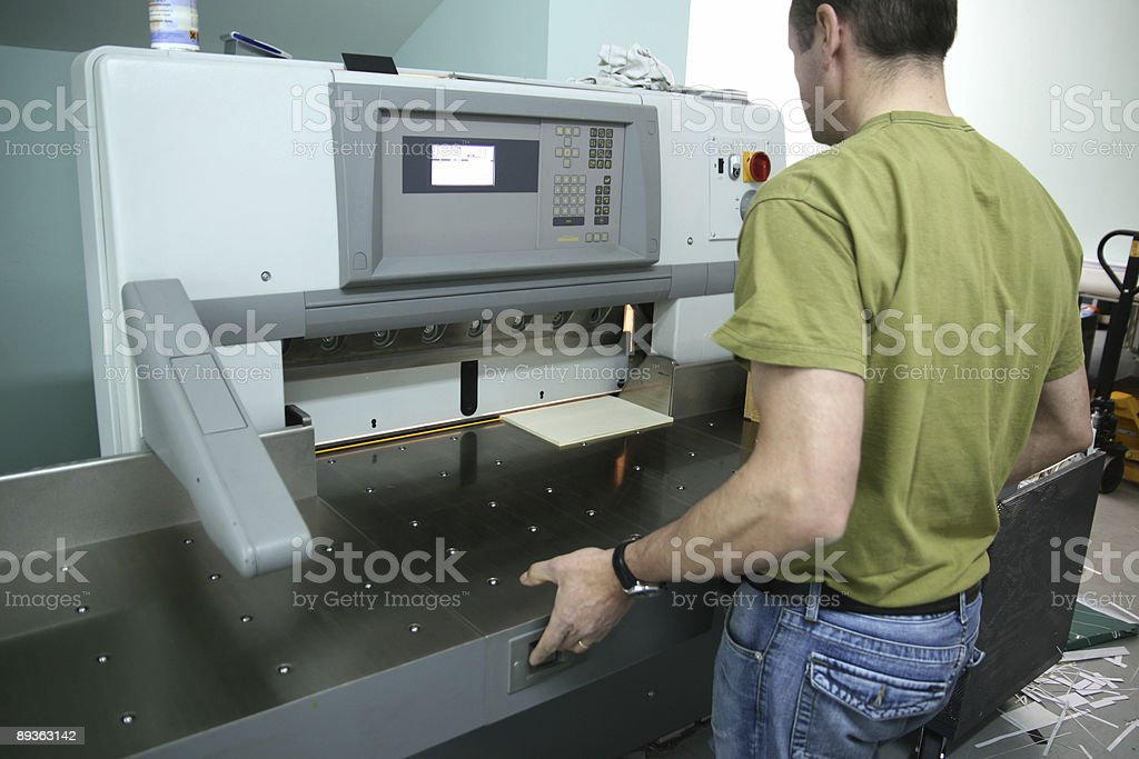 Paper cut machine royalty-free stock photo