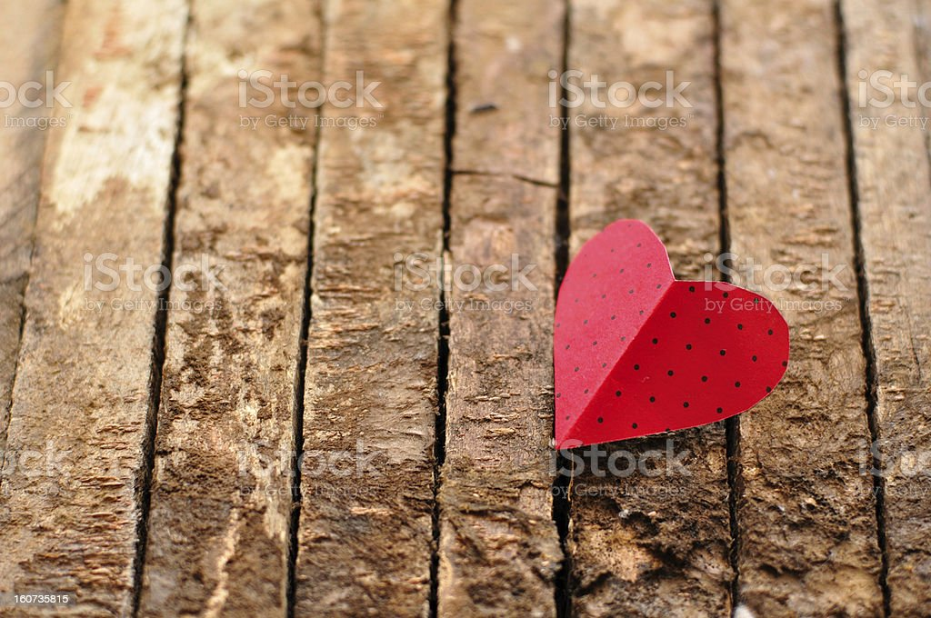 Paper cut out heart royalty-free stock photo