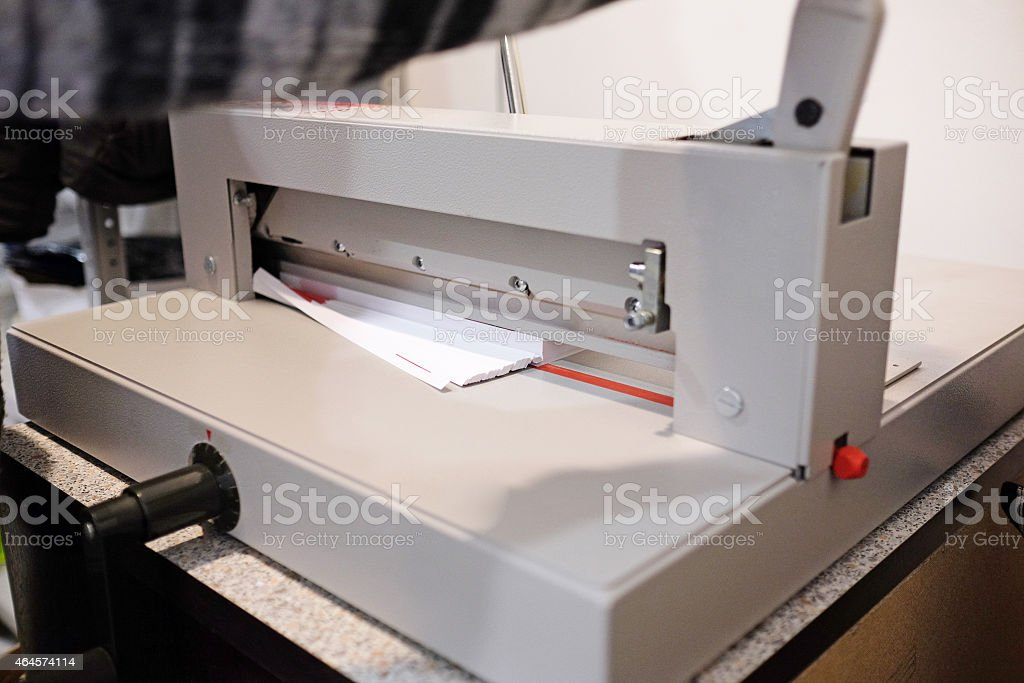 Paper cutter stock photo