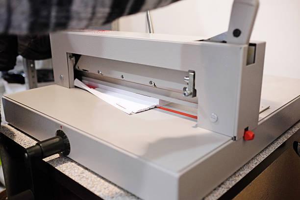 Paper cutter stock photo