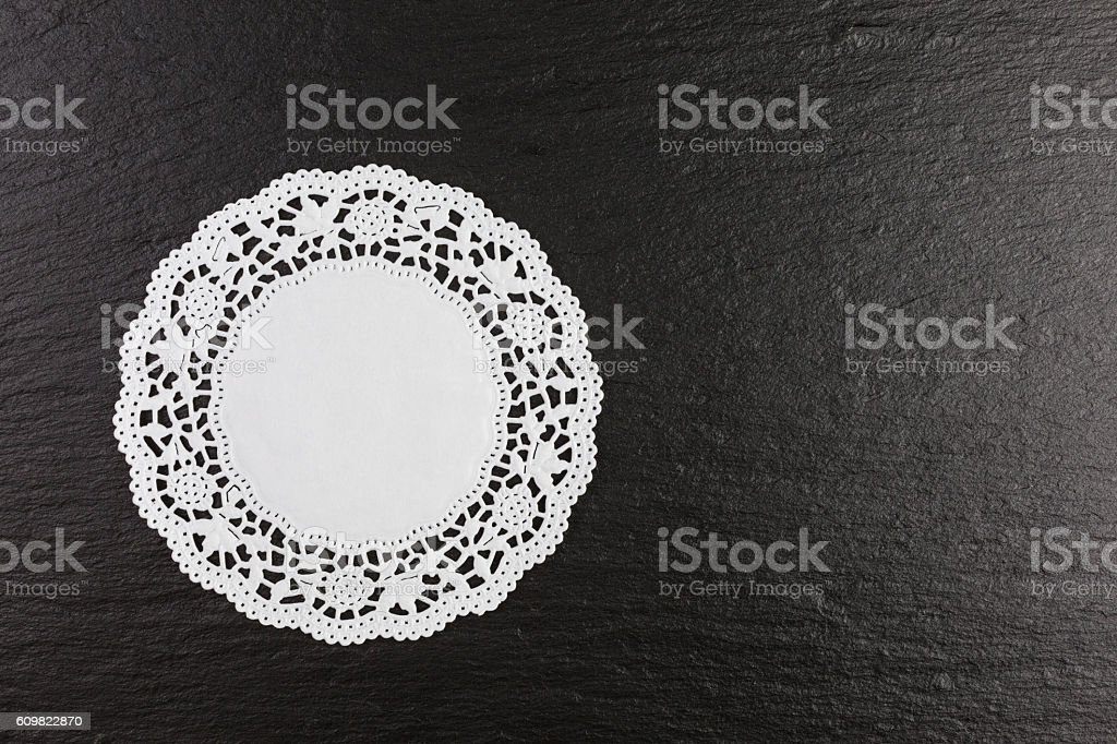 paper doily stock photo