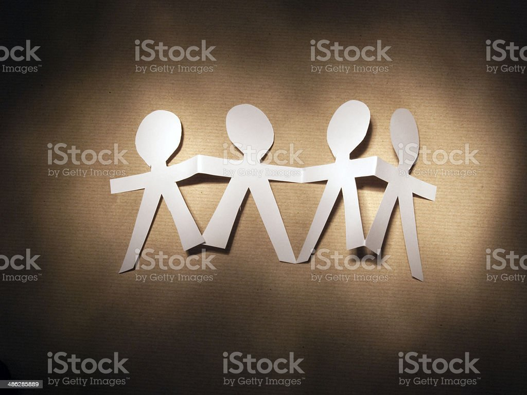 Paper Dolls stock photo