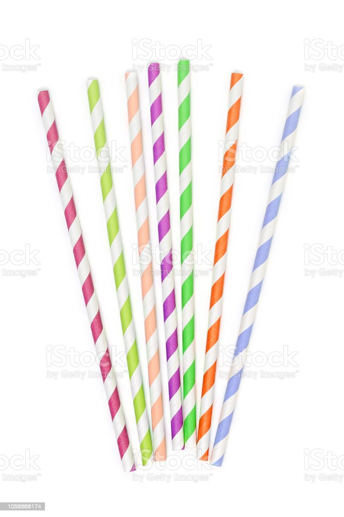 paper drinking straws stock photo
