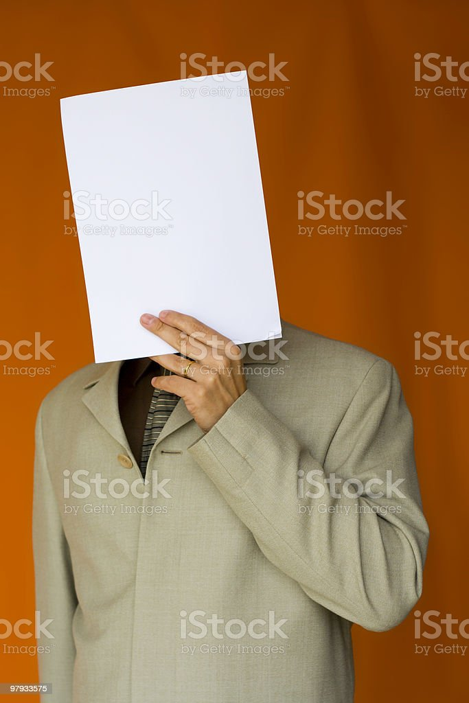 Paper Face royalty-free stock photo