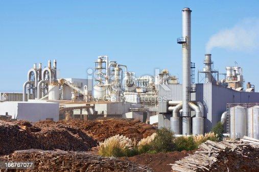 Paper Factory against blue sky
