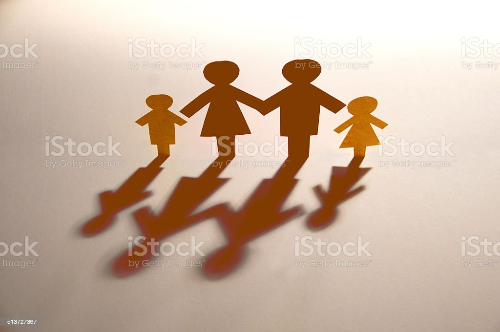 paper family close up stock photo