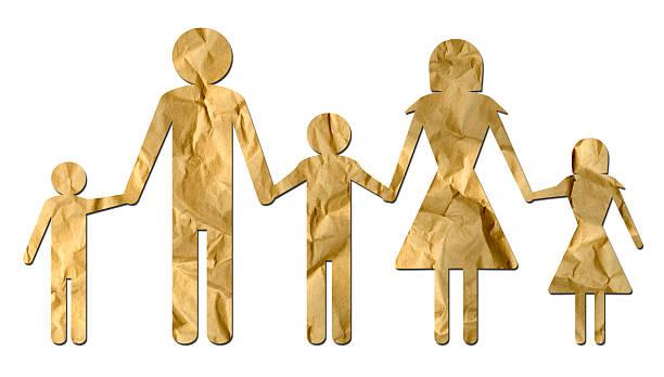 Paper Family stock photo