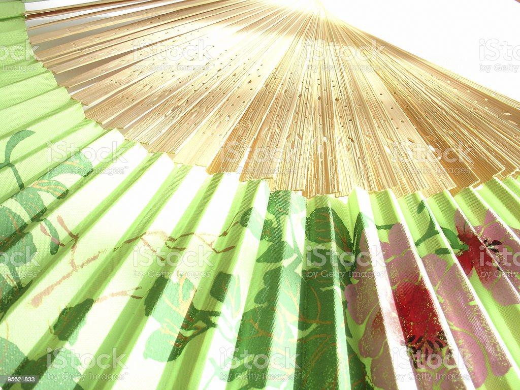 paper fan in sunlight royalty-free stock photo