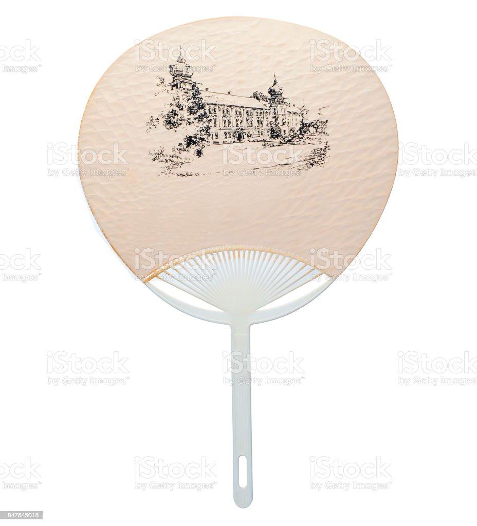 Paper fan stock photo