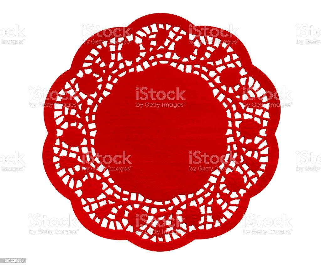 Paper figure napkin - red stock photo