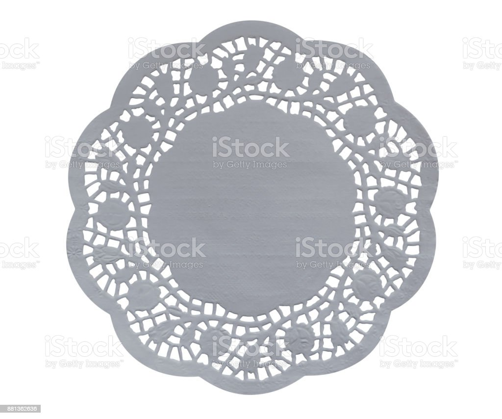 Paper figure napkin - white stock photo