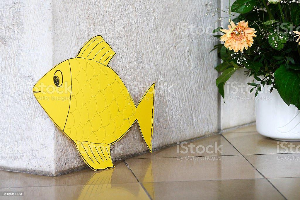 Paper Fish stock photo