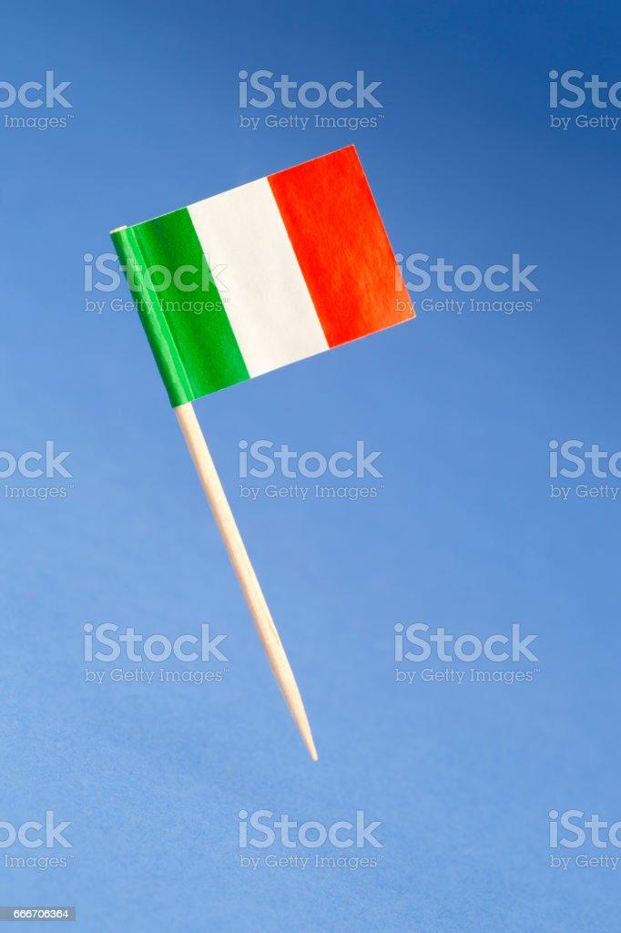 Papier-Flagge von Italien – Foto
