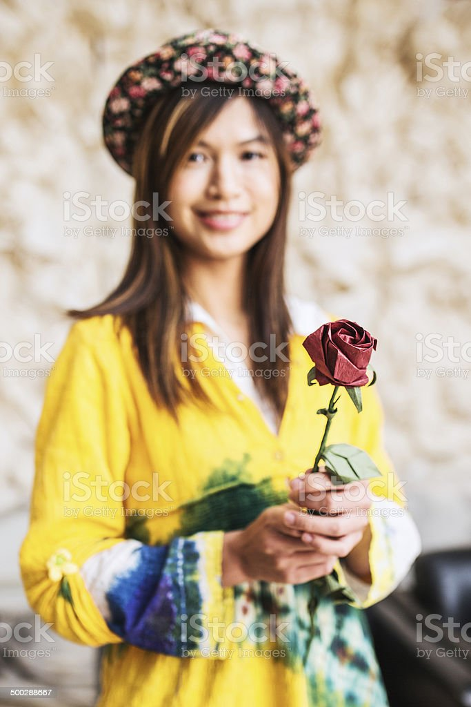 Paper flower business royalty-free stock photo