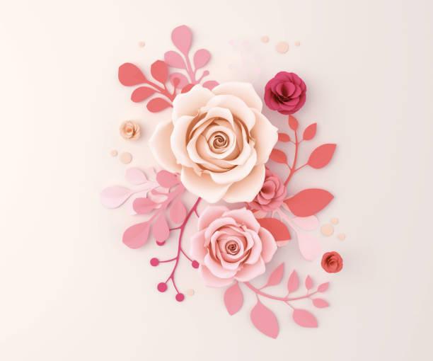 fond abstrait artisanat fleur de papier - origami photos et images de collection