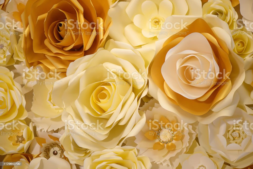 3d Paper Flower Wall Decor Idea Or Backdrop For Weddings Baby Shower Birthday Or Tea Parties Stock Photo Download Image Now
