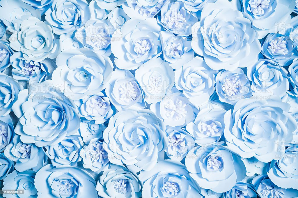 Paper flowers on background stock photo
