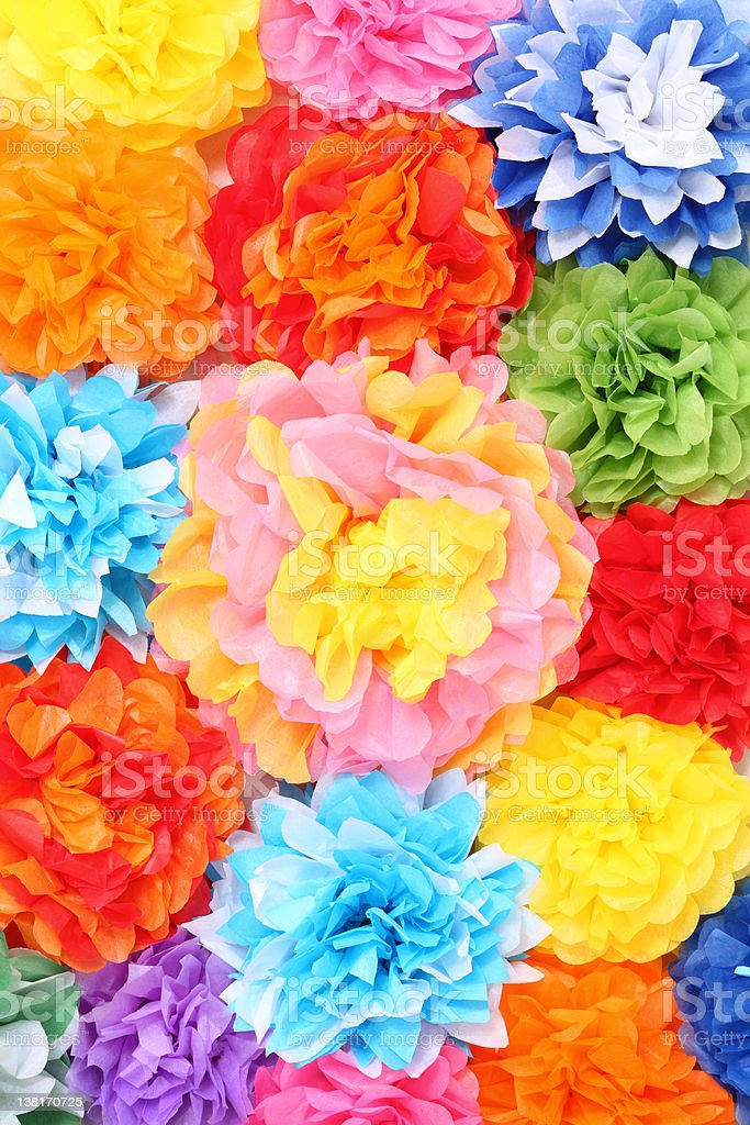 Paper flowers royalty-free stock photo