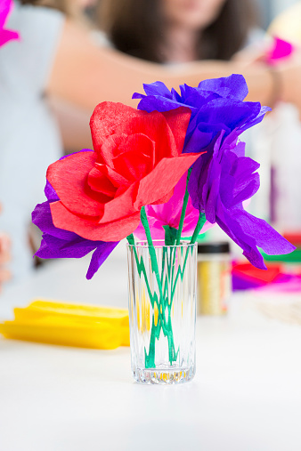 Paper Flowers Stock Photo - Download Image Now