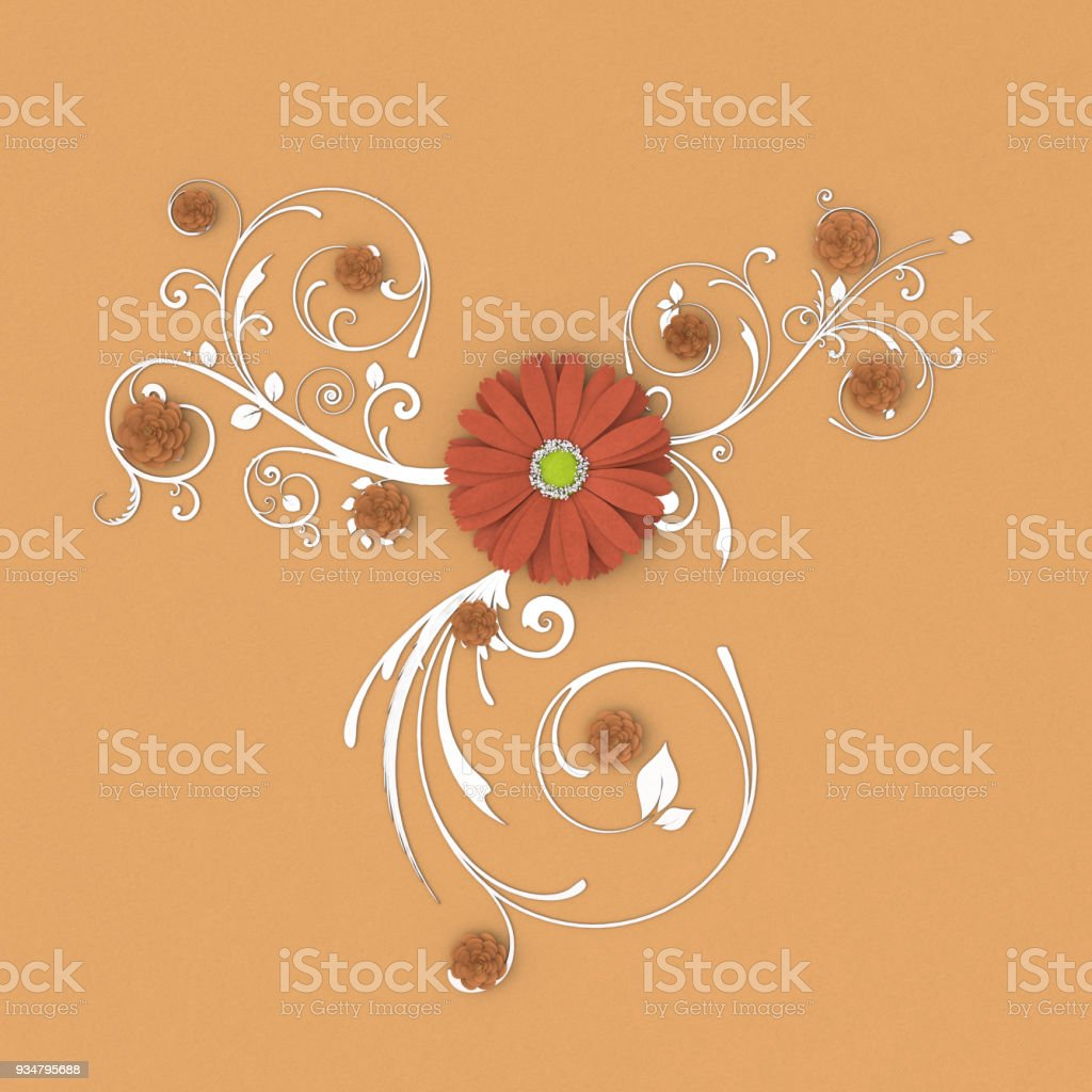 종이 꽃 - 로열티 프리 0명 스톡 사진