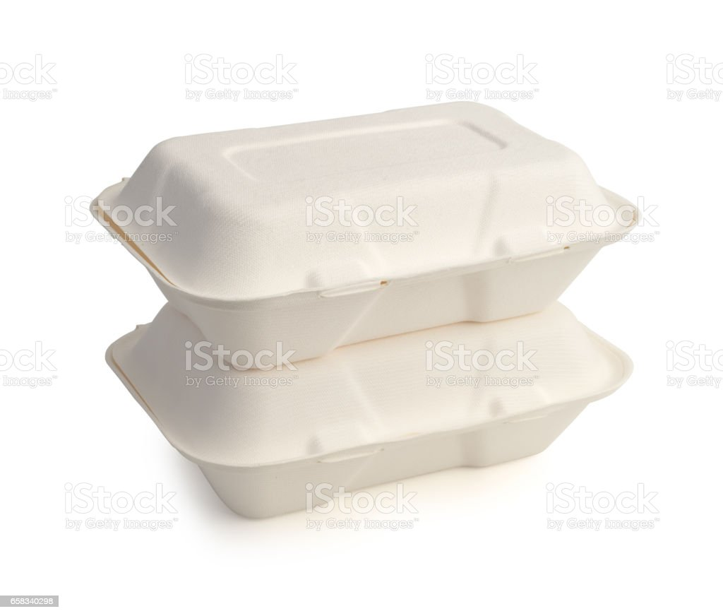 Paper foam boxes stock photo
