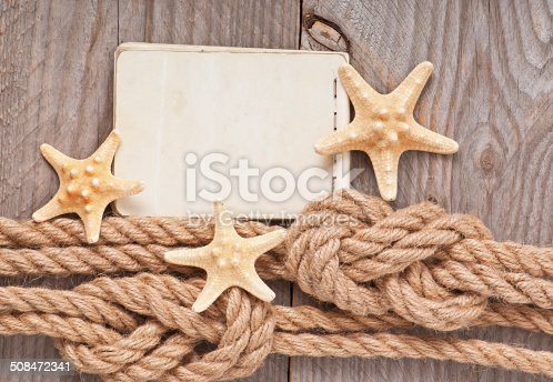 istock Paper for copy space and rope 508472341