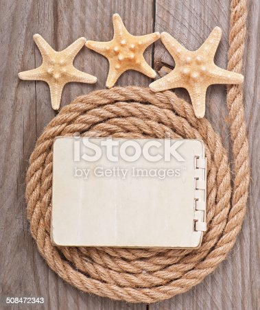 istock Paper for copy space and rope 508472343