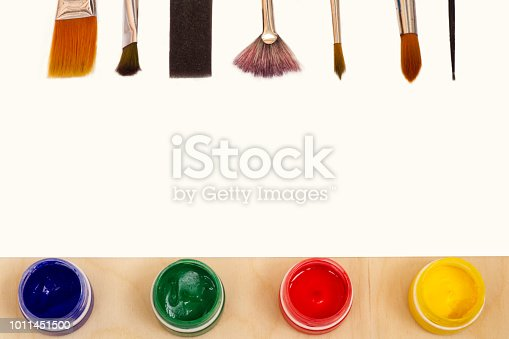 istock Paper for drawing with paints. 1011451500
