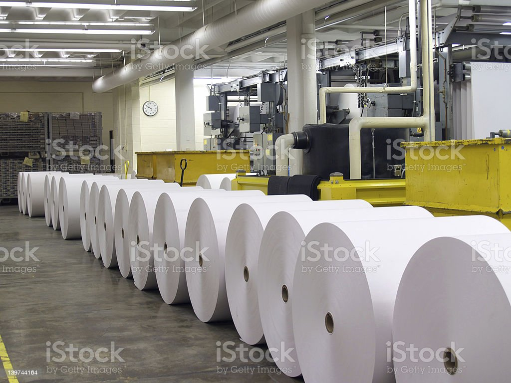 Paper for the Press stock photo