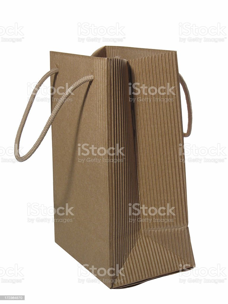 Paper gift bag royalty-free stock photo