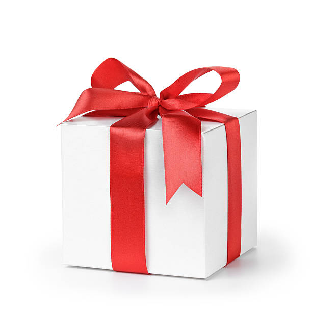 Royalty free white gift box pictures images and stock photos istock paper gift box wrapped with ribbon stock photo negle Choice Image