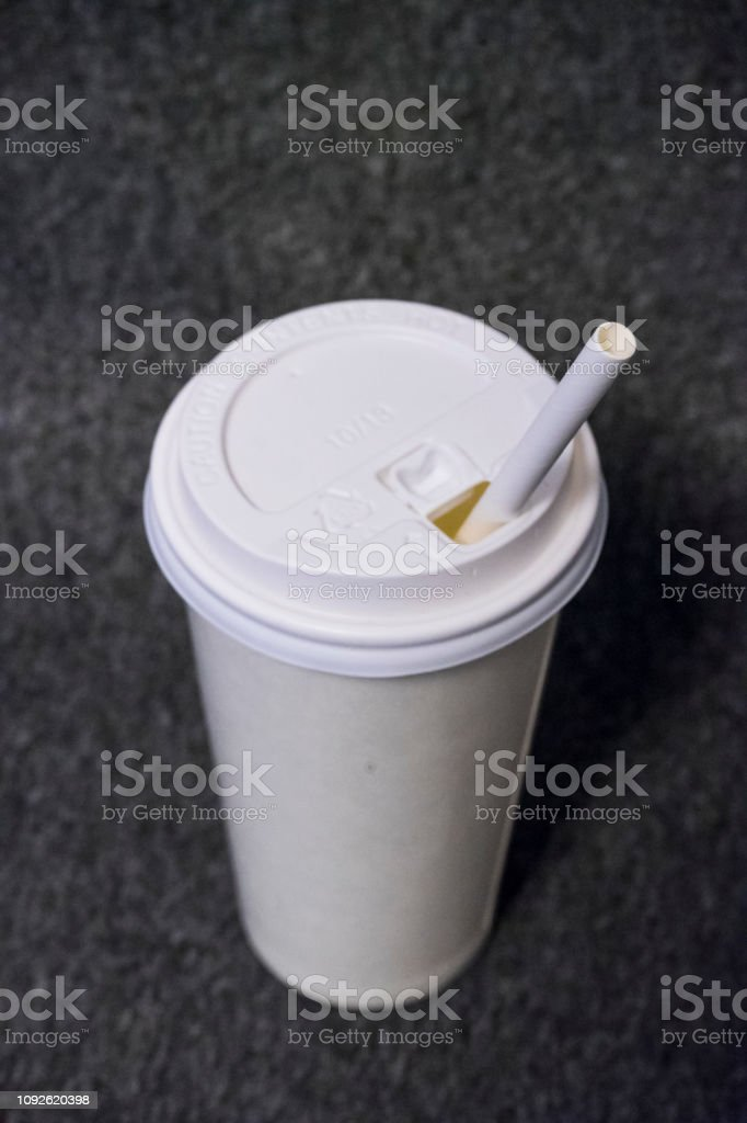 paper glass and paper straw