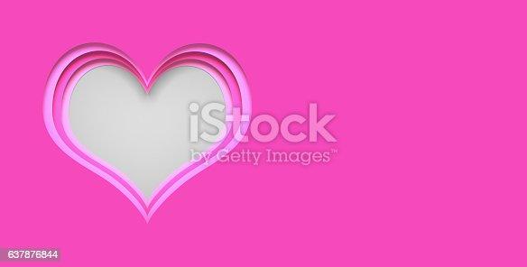 istock Paper heart blank 637876844