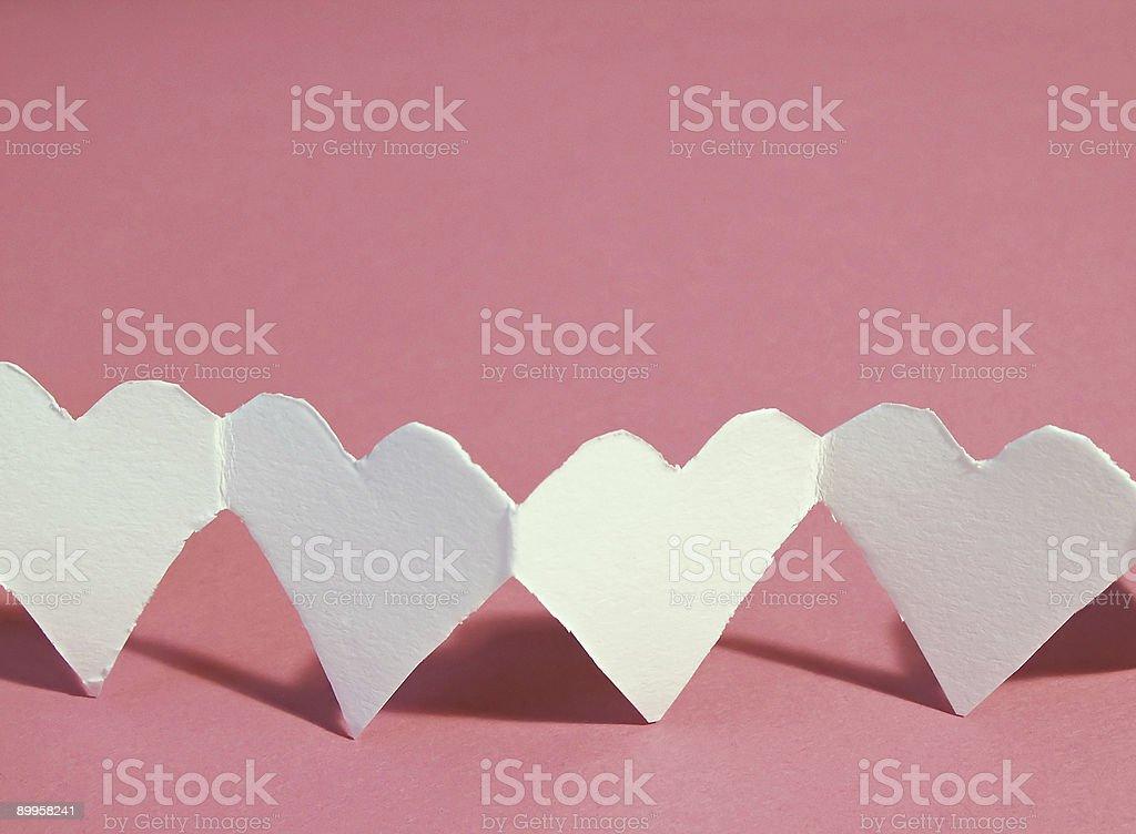 paper hearts stock photo