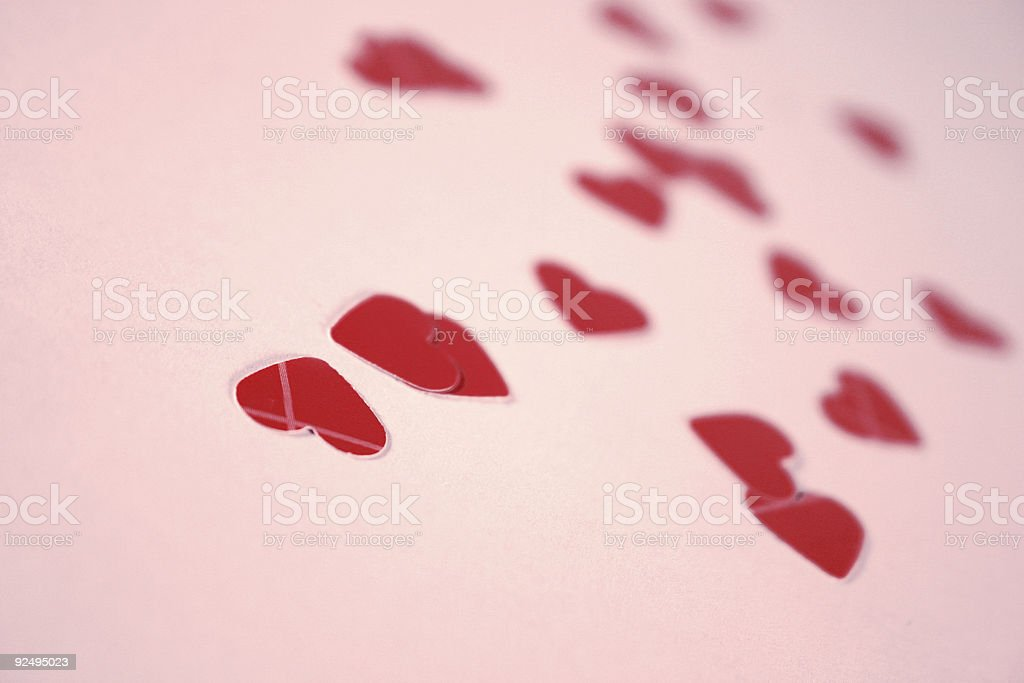 Paper hearts royalty-free stock photo