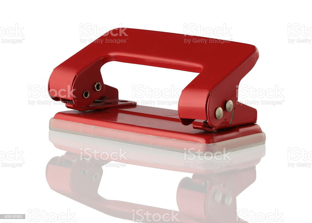 Paper Hole Puncher stock photo